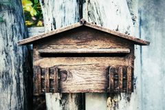 Wood letterbox Royalty Free Stock Photo