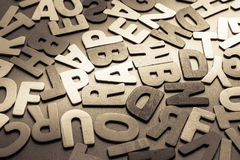 Wood letters Stock Images