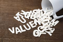 Value Spill Out stock images