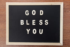 Wood letters text form bibleGOD bless you Royalty Free Stock Photography