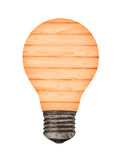 Wood Light bulb idea conceptual template for your design Royalty Free Stock Image