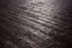 Wood-like pavement Royalty Free Stock Photos