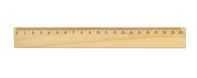 Wood linjal Royaltyfri Fotografi