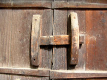 Wood Lock. Close Up stock photo