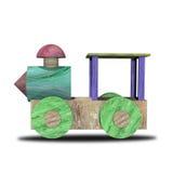 Wood locomotive Royalty Free Stock Photography