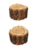 Wood log as fire wood isolated white Royalty Free Stock Photos