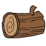 Wood log cartoon. Illustration  on white Royalty Free Stock Photo