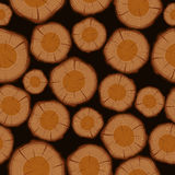 Wood log cuts seamless pattern background Stock Image