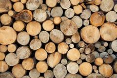 Wood log pile background Royalty Free Stock Photography