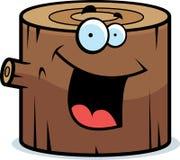 Wood Log Smiling Royalty Free Stock Image