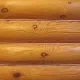 Wood log wall Stock Image