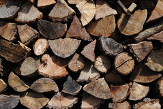 Wood logs background. Pieces of wood Royalty Free Stock Photo