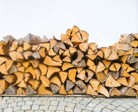 Wood logs background Stock Photo