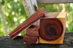 Real Burmese rosewood Exotic wood. Nature Burmese rosewood Exotic wood  For Picture Prints or background texture stock photo