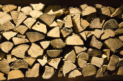 Wood logs. Cutted wood logs on a stack Stock Images