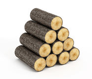 Wood logs Royalty Free Stock Photos