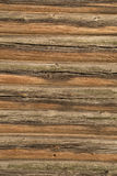 Wood logs texture of an old house. Royalty Free Stock Photos