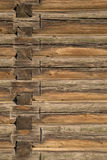Wood logs texture of an old house. Stock Photo