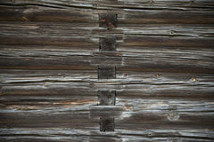 Wood logs texture of an old house. Royalty Free Stock Image