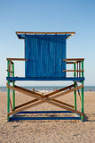 Wood Lonely lifeguard tower on the beach in Colombia Stock Photo
