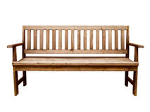 Wood long arms chair isolated Stock Photo
