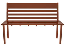 Wood long chair Royalty Free Stock Photography
