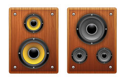 Wood Loud Speaker Isolated. Speaker icon illustration image loud Royalty Free Stock Images