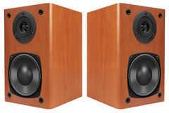 Wood Loud Speakers Stock Images