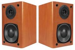 Wood Loud Speakers stock images