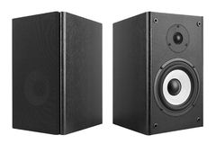 Wood Loud Speakers on White Royalty Free Stock Images