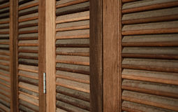 The Wood Louver Door Old Condition Classic Style Royalty Free Stock Photography