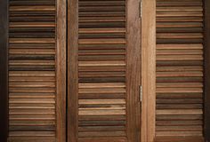 The Wood Louver Door Old Condition Classic Style Stock Image