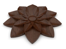 Wood machined flower design Stock Image