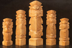 Wood made Goddess Durga, Indian handicrafts fair Royalty Free Stock Image