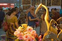 Wood made handicraft items on display , Kolkata Stock Photography