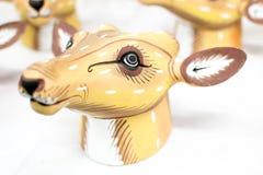 Wood made handicraft items on display , Kolkata Royalty Free Stock Photos