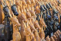 Wood made handicraft items on display , Kolkata Stock Photo