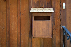 Wood maibox on Hallstatt village Stock Photos