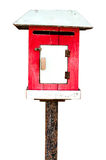 Wood mail box  with cliping path Stock Photos