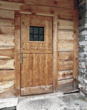 Wood main door Stock Photos