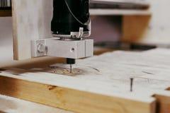 Wood malningmashine Arkivfoton