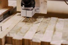 Wood malningmashine Royaltyfria Bilder