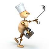 Wood man cook Stock Photos