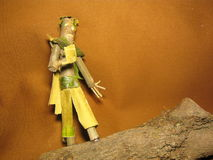 Wood man 7. Fantasy creature - handmade wood object Stock Image