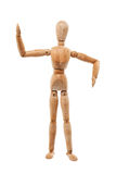 Wood man model Stock Images