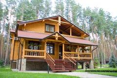Wood mansion Stock Image