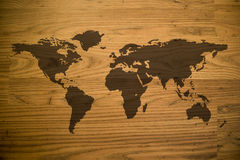 Wood Map Royalty Free Stock Image