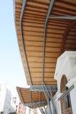 Wood markis Santa Caterina Market Arkivfoton