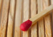 Wood match macro Royalty Free Stock Photo