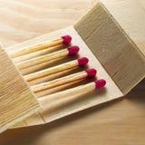 Wood matchbook Royalty Free Stock Photos